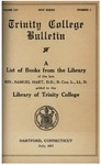 Trinity College Bulletin, July 1917 (Library books list)