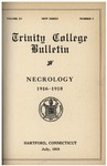 Trinity College Bulletin, 1916 - 1918 Necrology