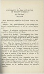 Trinity College Bulletin, 1918 - 1919 Necrology