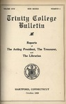 Trinity College Bulletin, October 1920 (Report of the Acting President) by Trinity College
