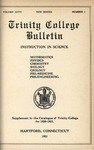 Trinity College Bulletin, 1921 (Catalogue supplement)