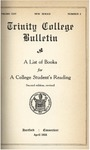 Trinity College Bulletin, 1927-1928 (A List of Books for a College Student's Reading)