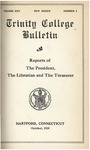Trinity College Bulletin, 1927-1928 (Reports of the President, the Librarian, and the Treasurer)