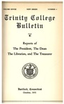 Trinity College Bulletin, 1930-1931 (Reports of the President, the Librarian, and the Treasurer)
