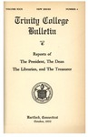 Trinity College Bulletin, 1931-1932 (Reports of the President, the Librarian, and the Treasurer)