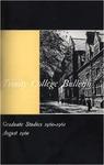 Trinity College Bulletin, 1960-1961 (Graduate Studies)
