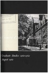 Trinity College Bulletin, 1961-1962 (Graduate Studies) by Trinity College