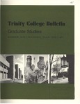 Trinity College Bulletin, 1970-1971 (Graduate Studies) by Trinity College