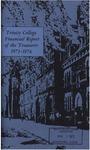 Trinity College Bulletin, 1973-1974 (Report of the Treasurer)