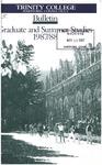 Trinity College Bulletin, 1987-1988 (Graduate Studies)