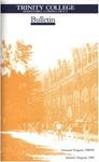 Trinity College Bulletin, 1989-1990 (Graduate Studies)