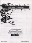 Trinity College Bulletin, 1991-1992 (Graduate Studies) by Trinity College