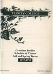Trinity College Bulletin, 1992-1993 (Graduate Studies)