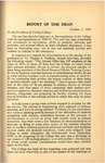 Trinity College Bulletin, 1940-1941 (Report of the Dean) by Trinity College