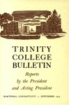 Trinity College Bulletin, 1952-1953 (Reports of the President and Acting President)