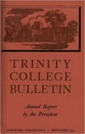 Trinity College Bulletin, 1954 (Report of the President)