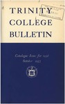 Trinity College Bulletin, 1958 (Catalogue Issue)