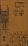 Trinity College Bulletin, 1981-1982 (Report of the Treasurer)