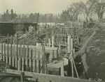 Trinity College Chapel construction, April 1, 1930