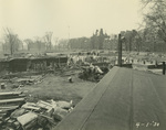 Trinity College Chapel construction, April 1, 1930 by William G. Dudley (photographer) and Frohman, Robb and Little (architectural firm)
