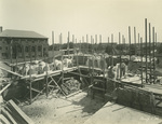 Trinity College Chapel construction, August 1, 1930