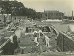 Trinity College Chapel construction, September 26, 1930