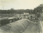 Trinity College Chapel construction, October 1, 1930