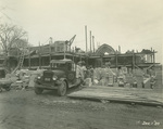 Trinity College Chapel construction, December 1, 1930 by William G. Dudley (photographer) and Frohman, Robb and Little (architectural firm)