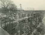 Trinity College Chapel construction, December 1, 1930