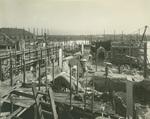 Trinity College Chapel construction, January 2, 1931