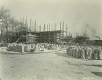 Trinity College Chapel construction, January 2, 1931 by William G. Dudley (photographer) and Frohman, Robb and Little (architectural firm)