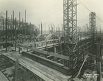 Trinity College Chapel construction, April 4, 1931