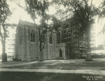 Trinity College Chapel construction, August 3, 1931 by William G. Dudley (photographer) and Frohman, Robb and Little (architectural firm)