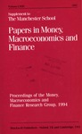 Papers in money, macroeconomics, and finance : proceedings of the Money, Macroeconomics and Finance Research Group, 1994.