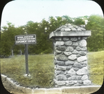 Sign at Railroad Station [National Association of Audubon Societies Experiment Station], Amston, Connecticut