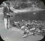 Henry Cook and Ducks, Woodbury, Long Island, New York