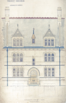 Trinity College, Students Rooms [Jarvis Hall, Long Walk]: Elevation of One Bay - East