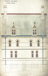 Trinity College, Students Rooms [Jarvis Hall, Long Walk]: Elevation of One Bay - West