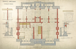 Trinity College, Students Rooms [Jarvis Hall, Long Walk]: Basement Floor [Plan, elevation and section details]