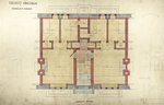 Trinity College, Students Rooms [Jarvis Hall, Long Walk]: Ground Floor [Plan detail]