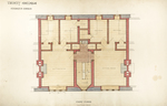 Trinity College, Students Rooms [Jarvis Hall, Long Walk]: First Floor [Plan detail]