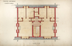 Trinity College, Students Rooms [Jarvis Hall, Long Walk]: Second Floor [Plan detail]