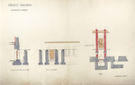 Trinity College, Students Rooms [Jarvis Hall, Long Walk]: Basement Door: Section, Exterior and Interior Elevations, Plan