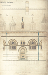 Trinity College, Lecture Rooms [Seabury Hall, Long Walk]: Elevation of One Bay - East