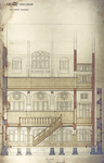 Trinity College, Lecture Rooms [Seabury Hall, Long Walk]: Section through Library [with Philosophical Room above]
