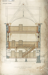 Trinity College, Lecture Rooms [Seabury Hall, Long Walk]: Transverse Section through Cabinet