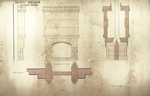 Trinity College, Lecture Rooms [Seabury Hall, Long Walk]: Mantel Details: Return, Elevation, Plan, Section