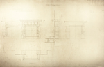 Trinity College, Lecture Rooms [Seabury Hall, Long Walk]: Stone Mantels, Junior Professors' Rooms: Elevation, Plan, Section