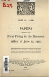 Papers respecting the first firing in the Shameen affair of June 23, 1925