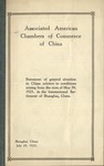 Statement of general situation in China : relative to conditions arising from the riots of May 30, 1925, in the International Settlement of Shanghai, China